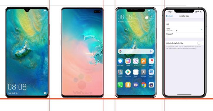 Samsung Galaxy S10 +, iPhone XS Max и Huawei Mate 20 Pro: Сравнение