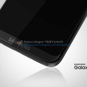 Рендери на Samsung Galaxy S8 с лого на предния панел