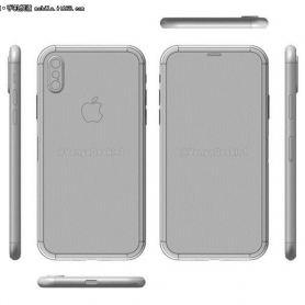 Схеми нa iPhone 8 от Foxconn потвърди скенера в стъклото