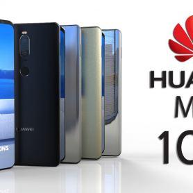 Предният панел на Huawei Mate 10 Pro в синьо и златно