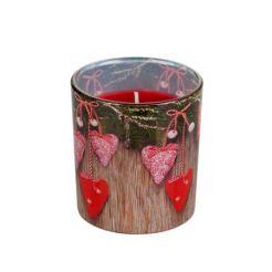 Свещник със свещ сърчица