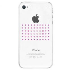 Swarovski Dot Matrix Pink Mix Case - кейс с кристали на Сваровски за iPhone 4/4S