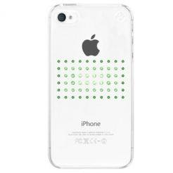 Swarovski Dot Matrix Green Mix Case - кейс с кристали на Сваровски за iPhone 4/4S