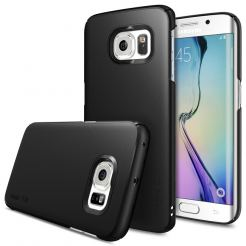 Ringke Slim Case - поликарбонатов кейс за Galaxy S6 Edge (черен)