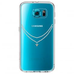 Ringke Noble NECKLACE Case - кейс с кристали за Samsung Galaxy S6 Edge (прозрачен)