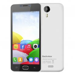 "BlackView BV2000, 4-ядрен, 5"" HD, 2 сим карти (бял)"