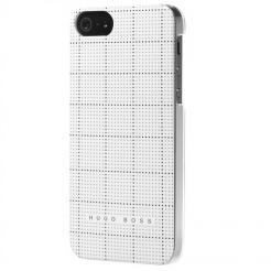 HUGO BOSS Squares Hardcover White - луксозен кейс за iPhone 5 (бял)
