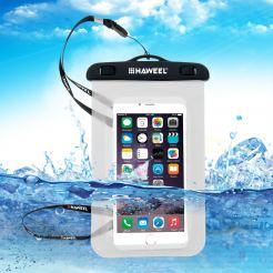 HAWEEL Universal Waterproof - водоустойчив калъф за устройства до 6 инча (прозрачен)