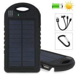 HAWEEL Solar Power - външна батерия 8 000mAh със соларен панел и 2 USB изхода