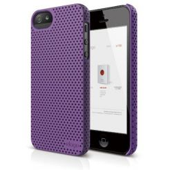 Elago S5 Breathe + HD Clear film - кейс (лилав) и HD покритие за iPhone 5