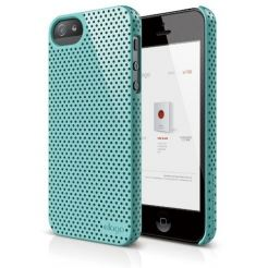 Elago S5 Breathe + HD Clear film - кейс (светлосин) и HD покритие за iPhone 5