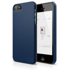 Elago S5 Breathe + HD Clear film - кейс (син) и HD покритие за iPhone 5