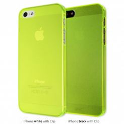 Artwizz SeeJacket® Clip Neon - поликарбонатов кейс за iPhone 5 (жълт-прозрачен)