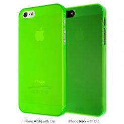 Artwizz SeeJacket® Clip Neon - поликарбонатов кейс за iPhone 5 (зелен-прозрачен)