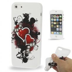 Fashionable Heart TPU силиконов case за iPhone 5