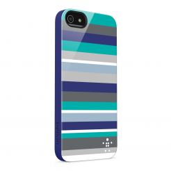 Belkin Shield Stripe - поликарбонатов кейс за iPhone 5 (тъмен)