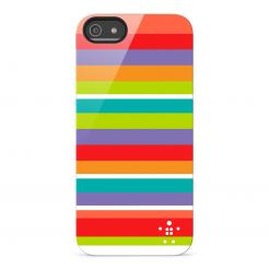 Belkin Shield Stripe - поликарбонатов кейс за iPhone 5 (шарен)