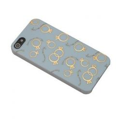 Sex And The City Rings Case - поликарбонатов кейс за iPhone 5 (син)