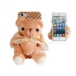 Plush Bear Case - поликарбонатов кейс с плюш за iPhone 5