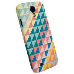 Krusell PrintCover Green Triangle - поликарбонатов кейс за Samsung Galaxy S4 i9500