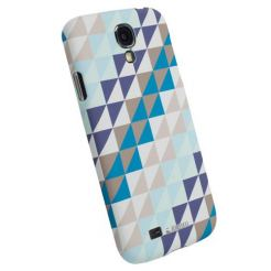 Krusell PrintCover Blue Triangle - поликарбонатов кейс за Samsung Galaxy S4 i9500