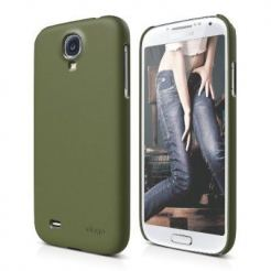 Elago G7 Slim Fit Case + HD Clear film - кейс и покритие за Samsung Galaxy S4 i9500 (зелен-мат)