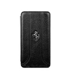 Ferrari FF Series Book-Flip-Case - кожен флип кейс тип портфейл за Blackberry Z10 (черен)