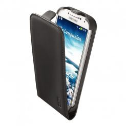 Artwizz SeeJacket® Leather Flip Plus - кожен флип кейс за Samsung Galaxy S4 i9500 (черен-мат)