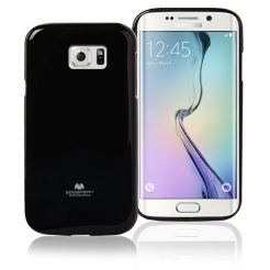 Mercury Goospery Jelly Case - силиконов (TPU) калъф за Samsung Galaxy S6 Edge (черен)