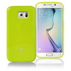 Mercury Goospery Jelly Case - силиконов (TPU) калъф за Samsung Galaxy S6 Edge (лайм)