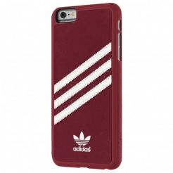 Adidas Originals Suede Moulded Case - твърд кейс с велурено покритие за iPhone 6 Plus, iPhone 6S Plus (червен)
