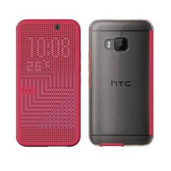 HTC Case Dot Flip HC M231 - оригинален кейс с активен капак за HTC One 3 M9 (розов)