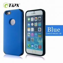 TIPX Cardstan Case - удароустойчив хибриден кейс за iPhone 6, iPhone 6S (син)