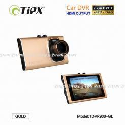 TIPX Full HD Car DVR - видео регистратор (камера) за кола за заснемане на движението, инциденти и други (златист)