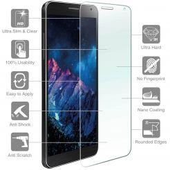 4smarts Second Glass - калено стъклено защитно покритие за дисплея на Huawei Y5 II (прозрачен)