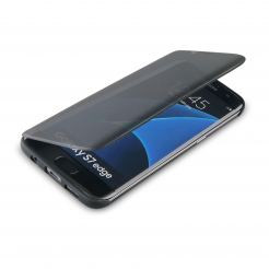 4smarts Kyoto Always-On Book - калъф с информация от дисплея за Samsung Galaxy S7 Edge (черен)