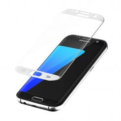 Vcover 3D Curved Silk Tempered Glass - калено стъклено защитно покритие за дисплея на Samsung Galaxy S7 (бял)
