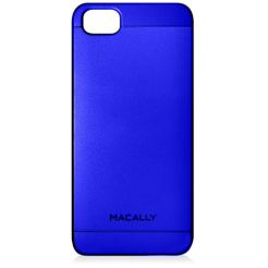 Macally Snap-On PC case - поликарбонатов кейс за iPhone SE, iPhone 5S, iPhone 5 (син)