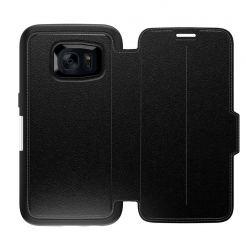 Otterbox Strada Leather Flip Case - кожен флип калъф с висока защита за Samsung Galaxy S7 Edge (черен) (bulk)