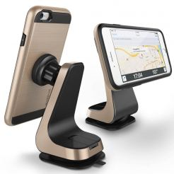 Verus Magnetic Grab - поставка за гладки повърхности за iPhone, Samsung и смартфони до 6.3 инча (златиста)