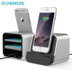 Verus i-Depot Cradle - док станция за iPhone 6, 6 Plus, iPad mini, iPad Air, iPad Pro 9.7 (сребриста)