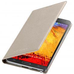 Samsung Flip Wallet Cover EF-WN900BUEGWW - оригинален кожен калъф за Samsung Galaxy Note 3 N9005 (бежав)