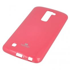 Mercury Goospery Jelly Case - силиконов (TPU) калъф за LG K10 (розов)