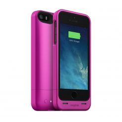 Mophie Juice Pack Helium - качествен кейс с вградена батерия 1500 mAh за iPhone 5S, iPhone 5, iPhone SE (розов)