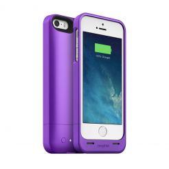 Mophie Juice Pack Helium - качествен кейс с вградена батерия 1500 mAh за iPhone 5S, iPhone 5, iPhone SE (лилав)