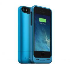 Mophie Juice Pack Helium - качествен кейс с вградена батерия 1500 mAh за iPhone 5S, iPhone 5, iPhone SE (син)
