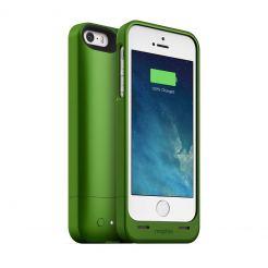 Mophie Juice Pack Helium - качествен кейс с вградена батерия 1500 mAh за iPhone 5S, iPhone 5, iPhone SE (зелен)
