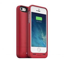 Mophie Juice Pack Helium - качествен кейс с вградена батерия 1500 mAh за iPhone 5S, iPhone 5, iPhone SE (червен)