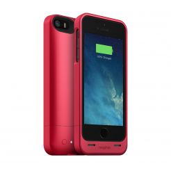 Mophie Juice Pack Helium - качествен кейс с вградена батерия 1500 mAh за iPhone 5S, iPhone 5, iPhone SE (тъмнотрозов)