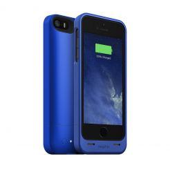Mophie Juice Pack Helium - качествен кейс с вградена батерия 1500 mAh за iPhone 5S, iPhone 5, iPhone SE (тъмносин)